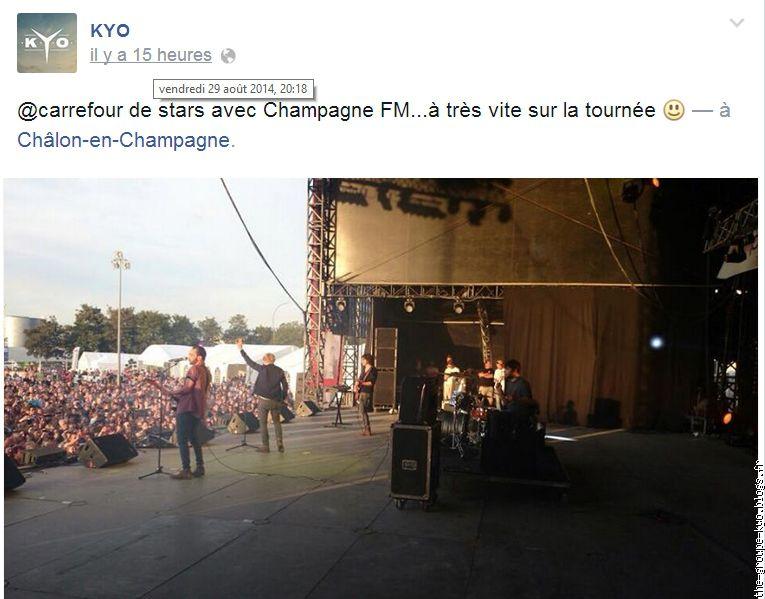 Hier le groupe tait pour le carrefour des stars ils ont for Carrefour croix dampierre chalons en champagne